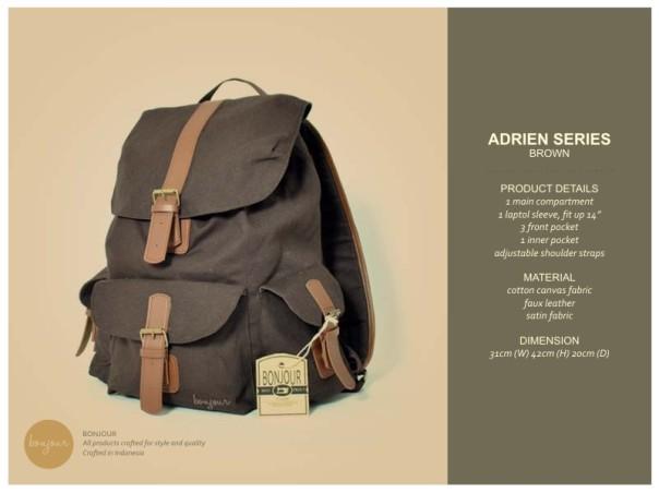 Adrien Series IDR 210.000 (tersedia warna Blue, Brown, Cream, Navy)