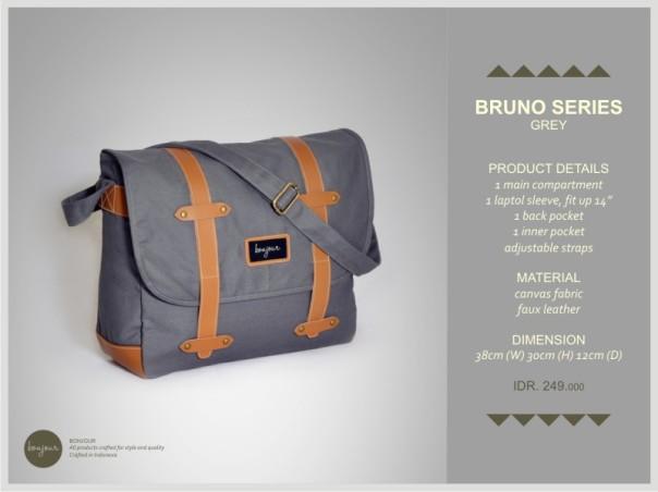 Bruno Series IDR 249.000 (tersedia warna Black, Brown, Grey, Navy)