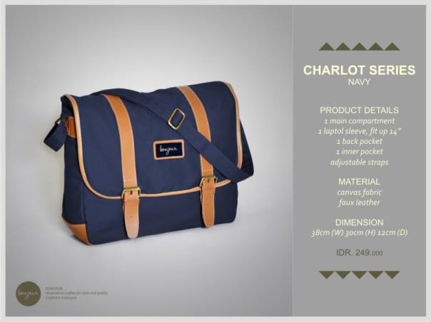 Charlot Series IDR 249.000 (tersedia warna Blue, Brown, Green, Navy)