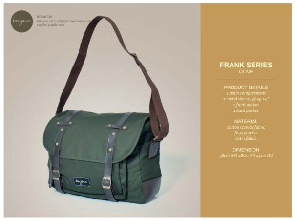 Frank Series IDR 210.000 (tersedia warna Cream, Navy, Olive)