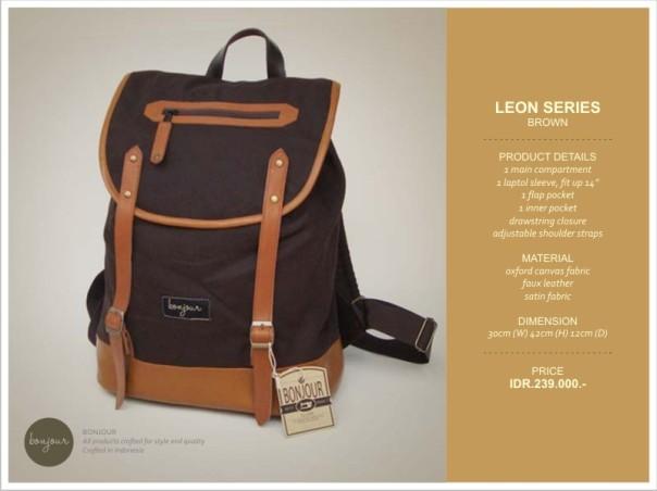 Leon series IDR 239.000 (tersedia warna Blue, Brown, Navy)