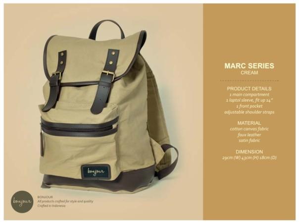 Marc Series IDR 239.000 (tersedia warna Blue, Brown, Cream, Navy)
