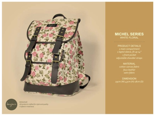 Miche Floral Series IDR 239.000 (tersedia warna Black, Navy, White)