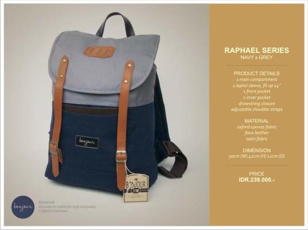 Raphael Series IDR 239.000 (tersedia warna Brown, Navy)