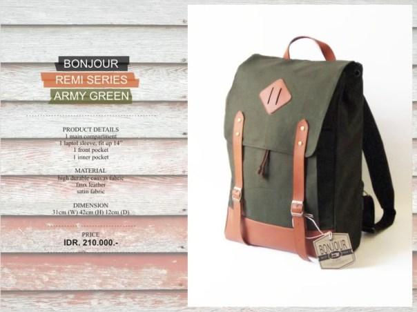 Remi Series IDR 210.000 (tesedia warna Green, Beige, Navy, Brown)
